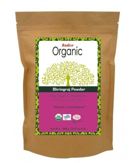 ORGANIC BHRINGRAJ 100% Natuurlijke BIO Organic Anti-Haaruitval, Haargroei, Care, Volume, Voedende Poeder 100g